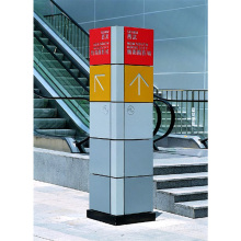 4 Seiten, die Edelstahl-Mall-Verzeichnis-Zeichen annoncieren