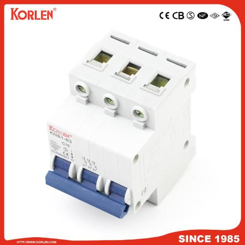 6ka Mini Circuit Breaker με Ce KNB1-63 1P