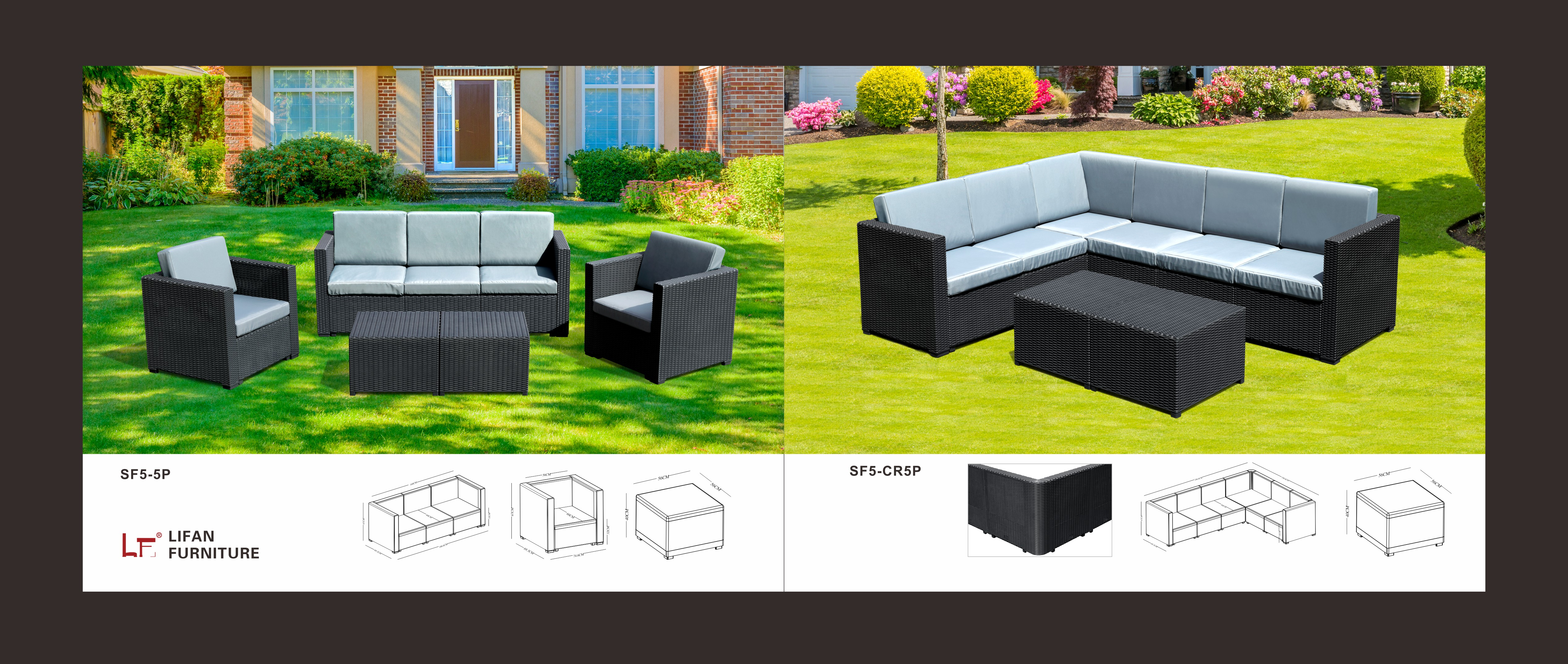 Waterproof Furniture Patio Plastic Sofa