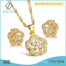 2016 new year gift gold plating girls party sets jewelry