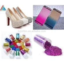 Bunte shinny Polyster Glitter Pulver für Dekoration / Geschenkverpackung