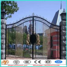 diseño de portón principal de hierro empalmado de 2,4 m