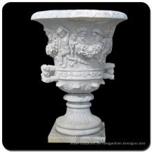 Gartendekoration Steinschnitzerei Baby Marmor Stein Blumentopf