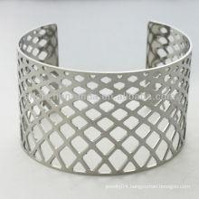 Hollow square rhombus heart shape 38mm width geometrical shape bangles bracelets women's fashion trendy stainless steel jewelry