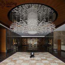 Araña de diseño innovador y único para hotel de proveedor de China
