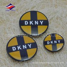 Cheap round printed safty pin fashional souvenir badge
