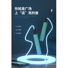 Amazon Hot Selling Lighting Jump Rope Pressure Relief Jump Rope LED Optical Fiber Shinning Jump Rope