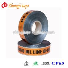 Fita de marcação de linha de óleo subterrânea detectável de alta qualidade