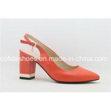 Trendy Pointy Fashion Orange High Heel Ladies Shoes