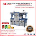 Machine de formage sous vide semi-automatique à double chauffage supérieur-inférieur
