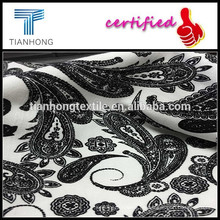 100 % Baumwolle print Garn gefärbtes Gewebe/Spandex slub bedruckte Stoffe/Schwarzweiß drucken Design Stoffe