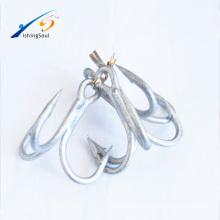FSH001 ST66 haute qualité en acier à haute teneur en carbone aiguisé anti-rouille Treble crochet crochet de pêche