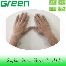 Suqain guantes verdes guantes de vinilo desechables con material de PVC
