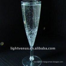 Verre à Champagne en plastique transparent en cristal