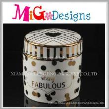 Caja de cerámica hecha a mano del anillo de la joyería de Wholoesalecustom Color