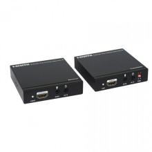 100m / 328FT sur le prolongateur HDMI de câble coaxial simple (Bi-directionnel IR + EDID)