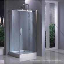 Boîtier en verre carré de douche