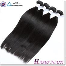 Non-Usine Usine Prix Pas Cher Vierge Cheveux Raides Couleur Naturelle Double Sewn Trame de Cheveux de Trame