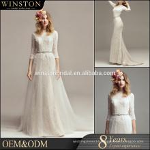 OEM ODM customized white wedding gowns