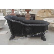 Bañera de baño clásico de la cultura antigua con el granito de mármol de piedra (QBN040)
