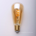 Clear Amber Glass Dimmable 4w soft LED Filament Bulb ST64