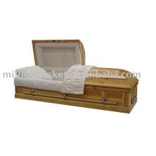 cercueil antique plein de sapin et les dimensions habituelles