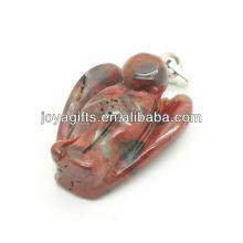 AAA grau natural pingente de anjo pedra vermelha para colar
