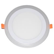 Refletor LED / luz de painel redonda dupla cor