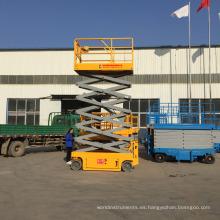 carro hidráulico plataforma elevadora de tijera