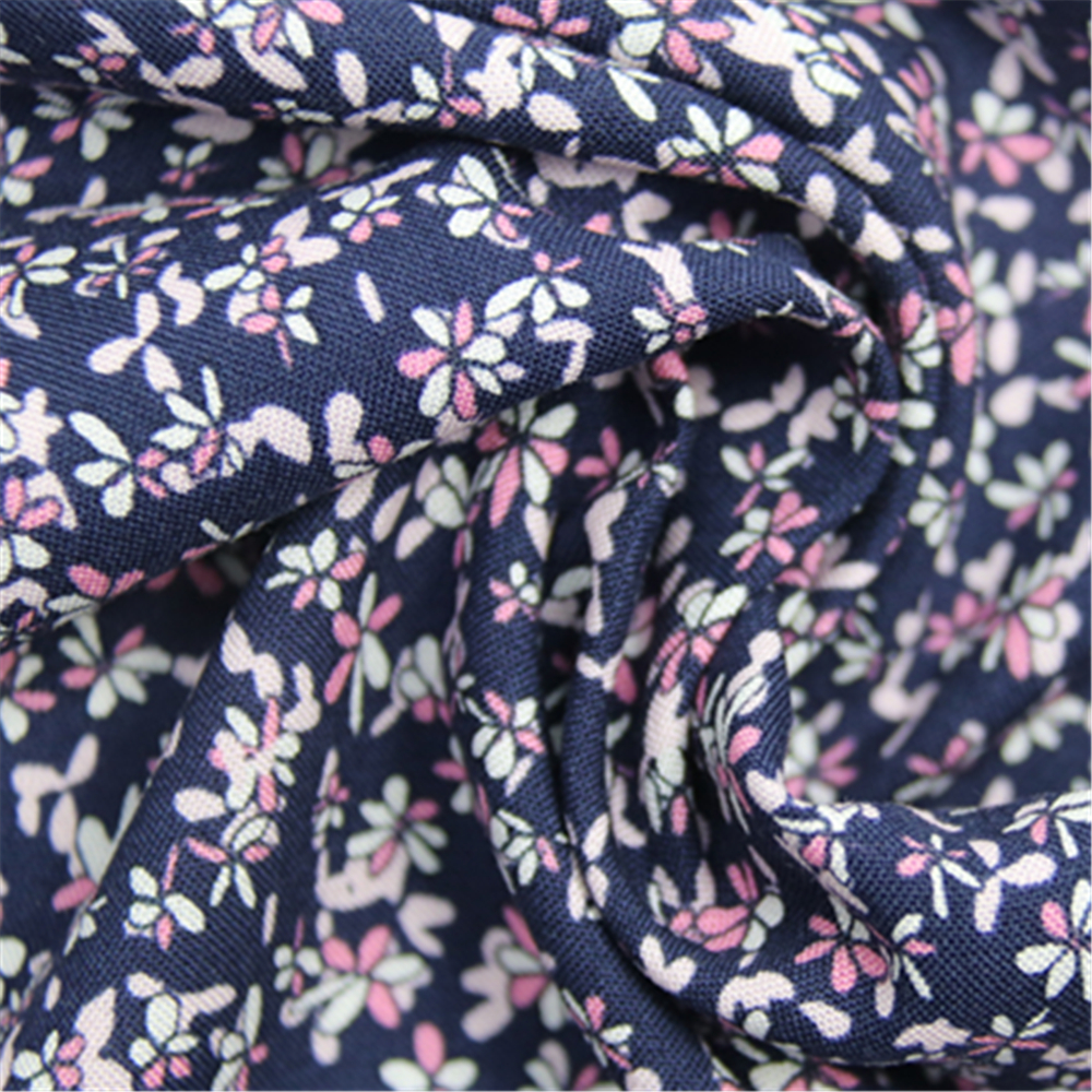 Rayon Small Floral Fabric