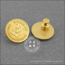 Chapado en oro pin redondo de solapa, insignia de la organización (GZHY-LP-017)