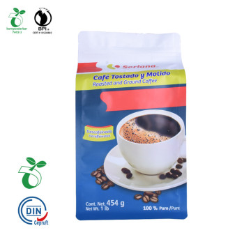 Industriell nedbrytbarhet Cornstarch Square Coffee Packaging