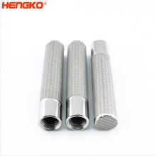 HNEGKO Customized high temperature resistance porous sintered stainless steel 316L copper wire mesh cylinder filter