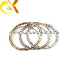 Bracelete oco 3pcs do aço inoxidável para o jogo com ouro e chapeamento de ouro cor-de-rosa