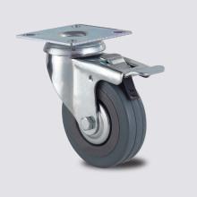 Легкий Duty Series Double Brake Type Gery Rubber Caster