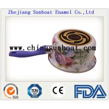Enamel Milk Pot with Cover