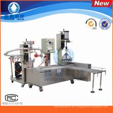 Máquina de llenado de líquidos semiautomática con tapado