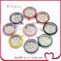 12 sortes de couleur mode en acier inoxydable charmes flottants médaillon / médaillon pendentif