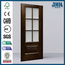 JHK Classic Glass Finished Fiberglass Prehung Front Door