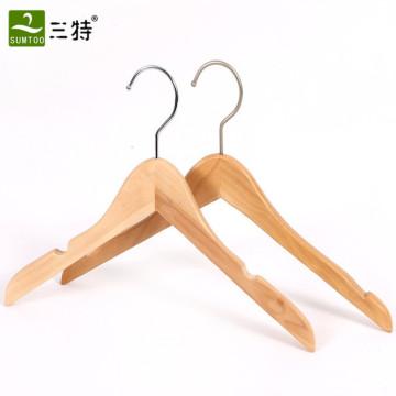 Cintre de chemise en bois haut de gamme pour hommes