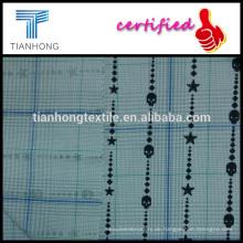 Super persönlichen Druck auf Check Karo Garn gefärbt Baumwolle Popeline weben Stoff Mitte dünne 150gsm für Hemd