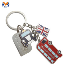 Souvenir custom shape metal London keychain