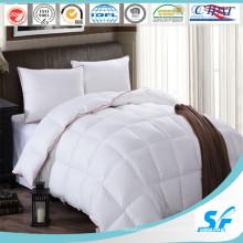 Couette en duvet d'oie d'hôtel matelassée 100% blanche (SFM-15-094)