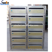 Outdoor usage stainless steel letter box light duty letter box