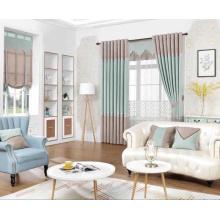 Tissu de rideau de fenêtre occultant d'ombrage de style simple
