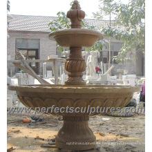 Fuente de agua de mármol de piedra para el jardín (SY-F189)