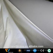 Lantejoulas de prata metálica lado único elástico impresso reflexivo tricô tecido