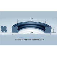 FKM/PTFE/NBR Quad-Ring Seal /X Ring