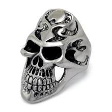 Смерть Череп Кольцо Черный Матовый Глаз Ювелирные Изделия Нержавеющей