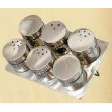 Stainless Steel Magnetic Spice Rack (CL1Z-J0604-6H)